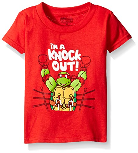 Teenage Mutant Ninja Turtles Little Boys' Toddler Holiday Themed T-Shirt, Red Valentine, 2T (Ninja Turtle Valentine compare prices)