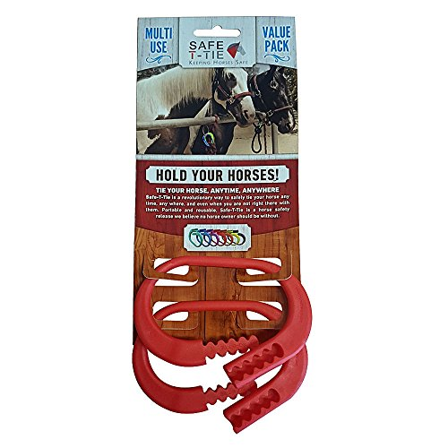 Safety-T-Tie Injuries Preventing Strong & Sturdy Secure Horse Tie Down Ring 2 (Ring Setting 2 Loop)
