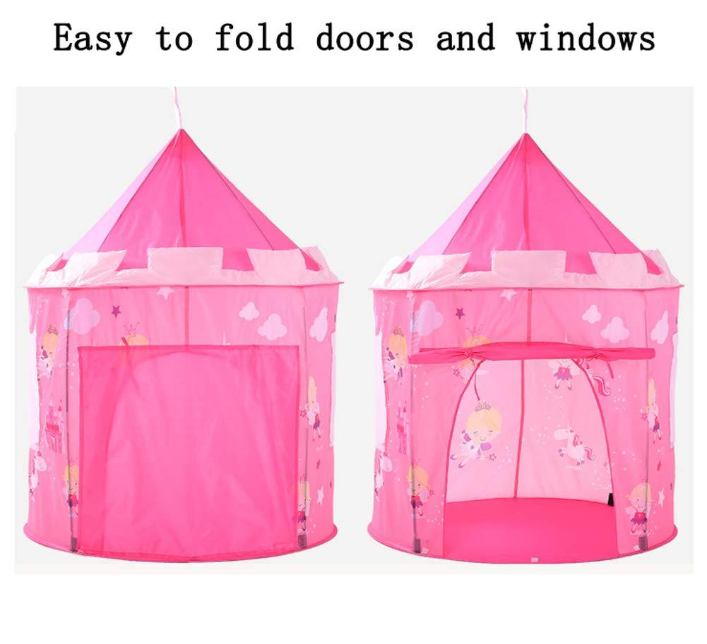 Juegos de imitación diseño de Pradera Rosa Plegable para Uso en Interiores y Exteriores Sanqing Tienda Princesa Fairy Tale Castle para niñas Artículos educativos