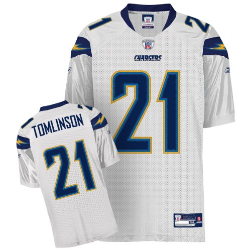 Reebok San Diego Chargers Ladainian Tomlinson Authentic White Jersey Size: Size 50 ()