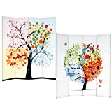 Printed with water and fade resistant, high saturation ink on both sides of durable, high quality canvas, stretched on spruce wood panel frames. This long lasting, stunning room divider is great for home decor accent-dividing a room space, re...