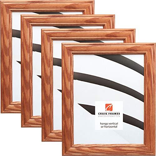 Craig Frames 59504100 5 x 7 Inch Picture Frame, Honey Brown, Set of 4 -