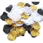 ALLHEARTDESIRES-900-Pack-Mixed-Gold-Black-White-Artificial-Silk-Rose-Petal-Flower-Centerpieces-Table-Scatters-Confetti-Vintage-Wedding-Flower-Basket-Vase-Filler-Birthday-Bridal-Shower-Decoration