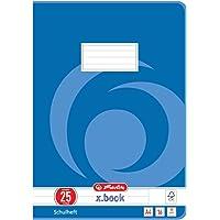 Herlitz 3322500 - Cuaderno, 10 unidades, A4/16, diseño 25 (renglones con margen), certificado FSC Mixed, diseños…