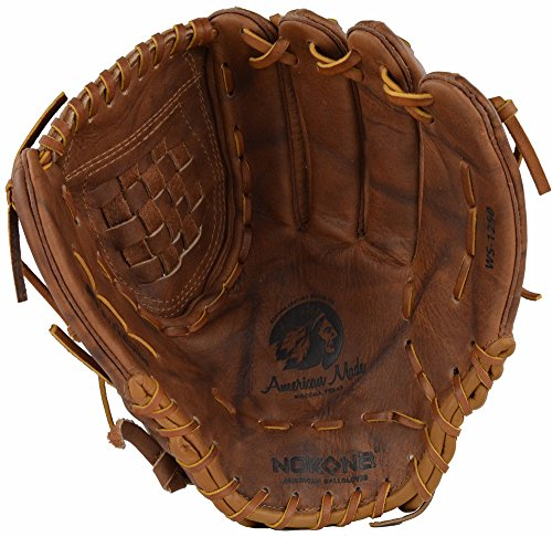 Nokona Leather - Nokona AMG600-W-CW 12.5-Inch Closed Web Walnut Leather Baseball Glove (Right-Handed Throw)