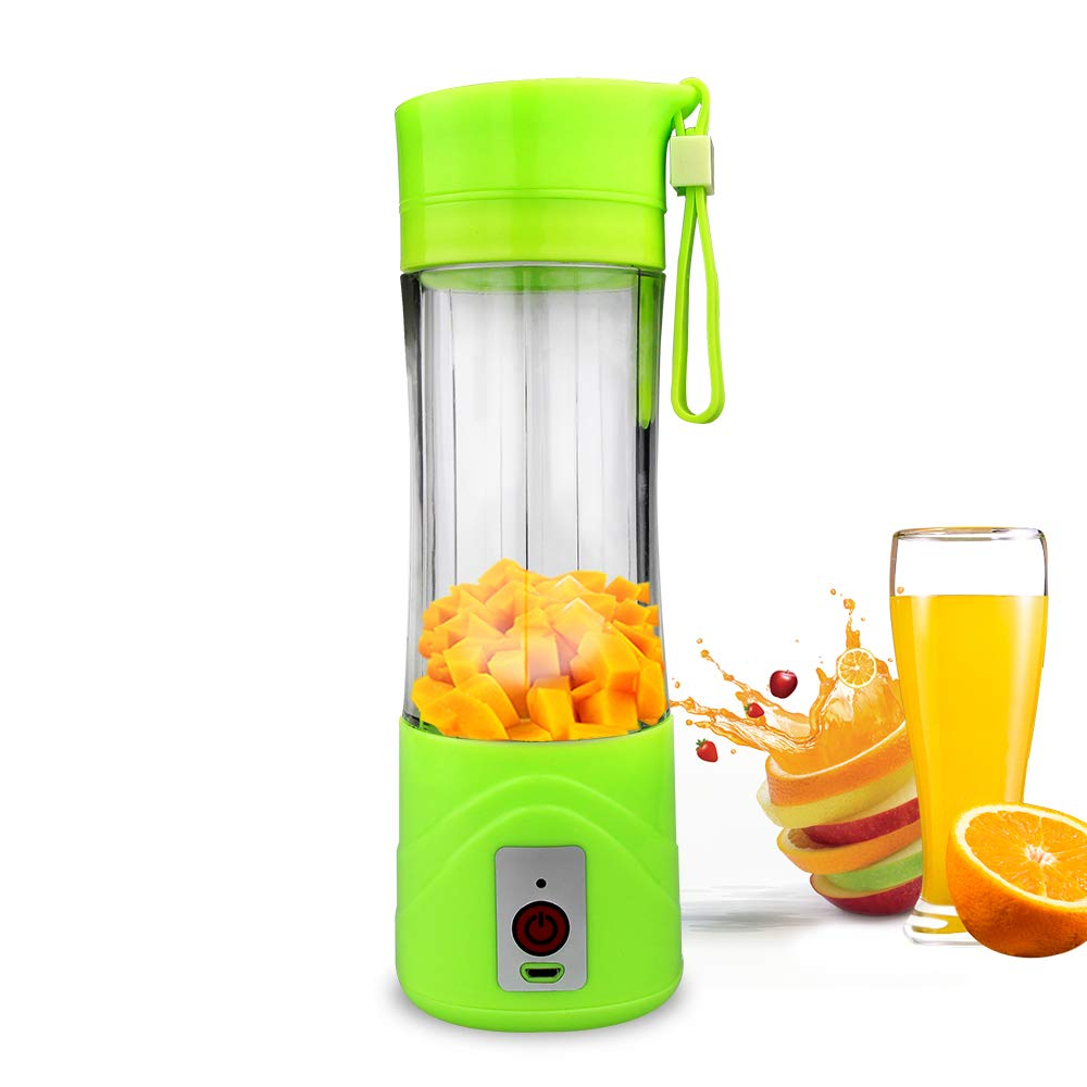 Personal Blender with 304 Stainless Steel Blade, Benss Small Size 380ml Juicer Cup Fruit Mixing Machine for Shakes and Smoothies,Green