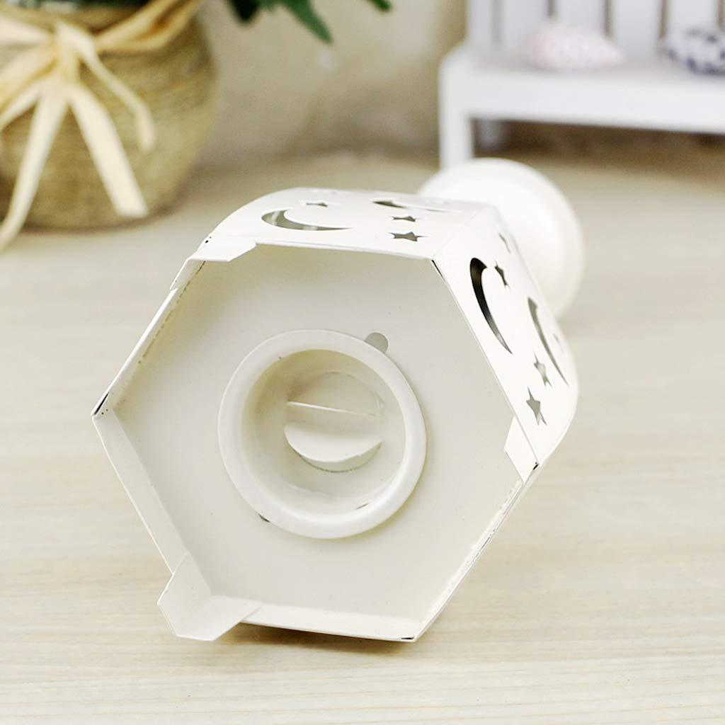 para decoraci/ón de mesa cumplea/ños Soporte para velas de t/é o plato decoraci/ón de bodas dise/ño creativo Youlin 10,5 x 27 cm blanco