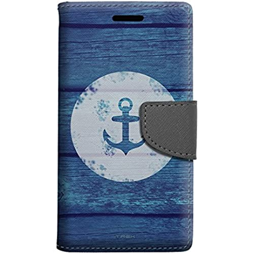 Samsung Galaxy S7 Edge Wallet Case - Anchor on Blue Wood Case Sales