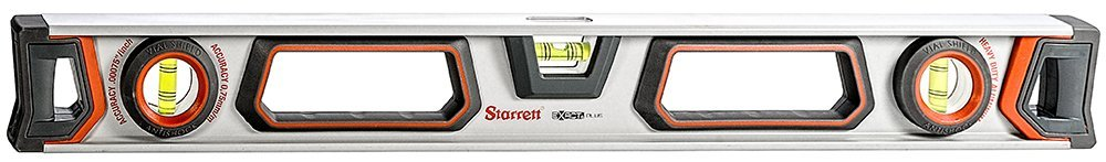 Starrett Exact Plus KLIXP24-1-N Aluminum I-beam Magnetic Level with 3 Plastic 360° Vials, 24'' Length by Starrett