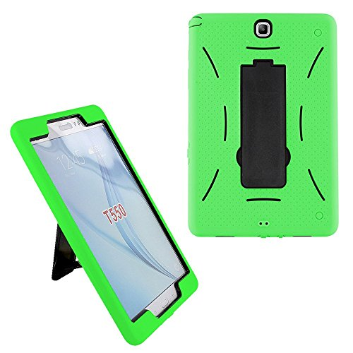 Galaxy Tab A 8.0 2015 SM-T350 Case Cover by KIQ [Does NOT FIT Models T380/T385(2017) and T387(2018)] Hybrid Shockproof Full-Body Protective Cover for Samsung Galaxy Tab A 8-inch T350 (Green)