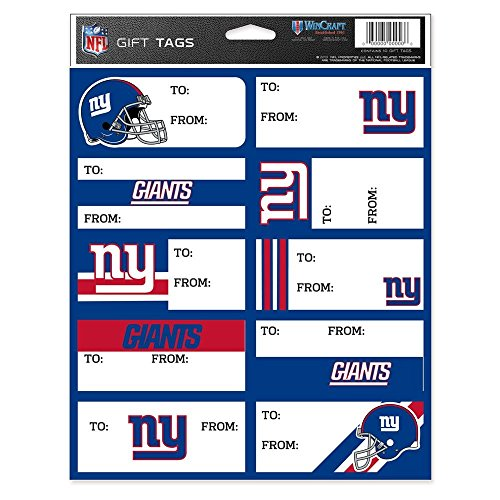 NFL New York Giants Gift Tag Sheet ()