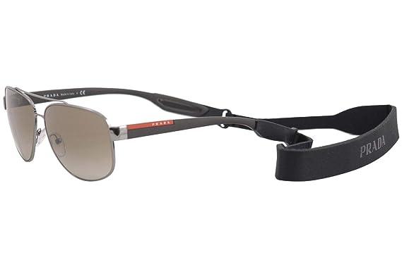 Amazon.com: Prada LJ SILVER PS58QS - Gafas de sol 5AV1X1-63 ...