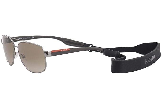 Prada Linea Rossa 0PS 58QS Gafas de sol, Gunmetal, 63 para ...