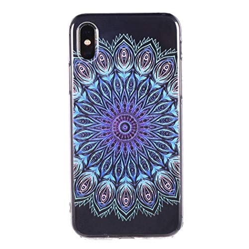 Tiowea Soft Fashion Datura Flowers Print Back Phone Case Slim Cover for iPhone Cases