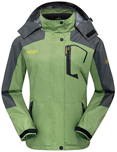 Erba Mezza Cappuccio Stagione Leggera Verde Impermeabile Donna Antivento Sci Wantdo da Sport Giacca zFq878