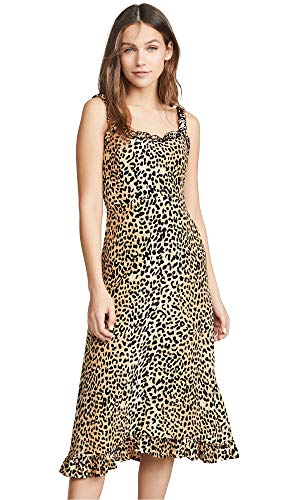 Faithfull The Brand Women's Noemie Midi Dress, Le Cinq Animal Print, X-Small