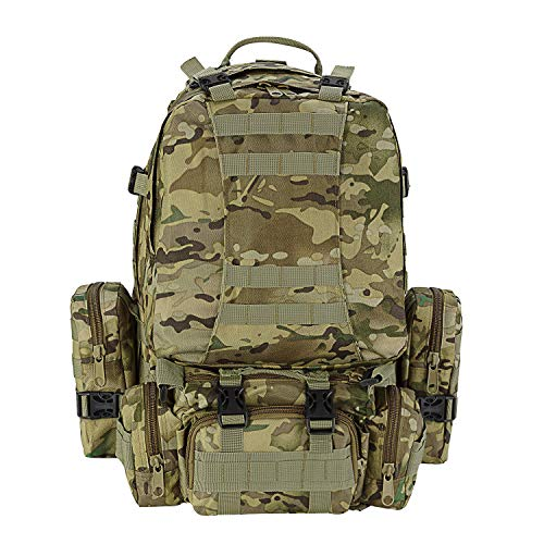 CVLIFE 60L Built-up Military Tactical Army Outdoor Backpacks Assault Combat Rucksack Heavy Bag CP