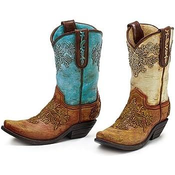 Amazon Com Accents Amp Occasions Ceramic Cowboy Boot Planter Or Flower Arrangement Vase 6 1 2