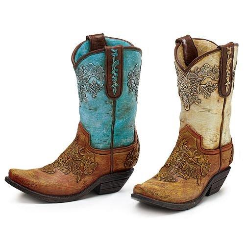 Cowboy Boot Vases - 8