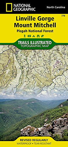 Linville Gorge, Mount Mitchell [Pisgah National Forest] (National Geographic Trails Illustrated Map) National Forest Mt