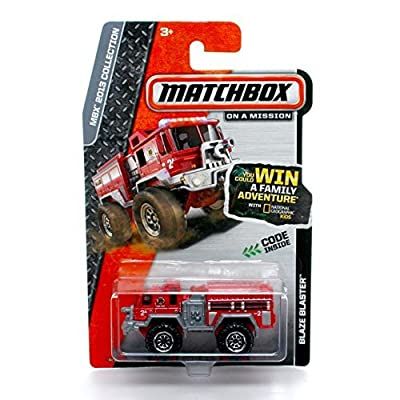 Matchbox Blaze Blaster Firetruck (Red) MBX Heroic Rescue 2013 on a Mission 1:64 Scale Basic Die-Cast Vehicle: Toys & Games