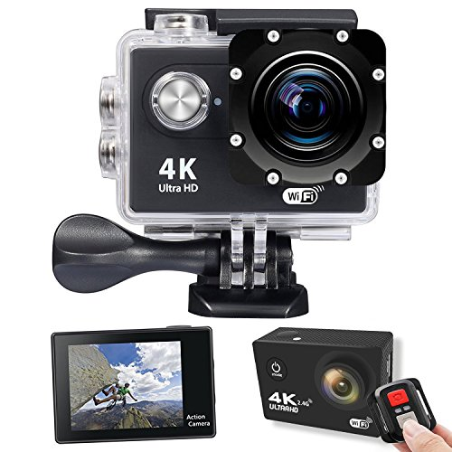 9f2e7287388e Galleon - Veoker 4K Full HD WIFI Sports Action Camera 30M Diving Underwater  Waterproof Cam DV Camcorder 16MP 170 Degree Wide Angle Anti Shake DSP With  ...