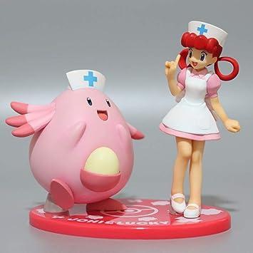 Jqchw Personality Pok/émon Handmade Modell Spiele Anime-Charakter Statue Schwester Joy Chansey Sch/öne M/ädchen-Charakter Modell Static Desktop-Dekoration Modell-Puppe 12cm Kollektion Geschenk
