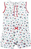 Carter's Baby Girls' Floral Romper, 6 Months White