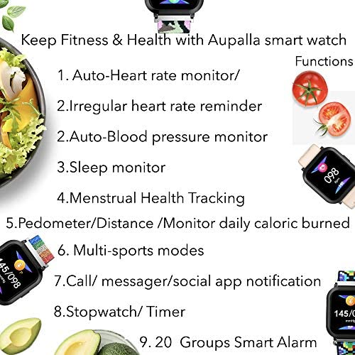 AUPALLA Smart Watch Fitness Tracker Watches for Women, Fitness Watch with Heart Rate Monitor Blood Pressure Monitor Sports Tracker Sleep Monitor Compatible Android Phones Gifts for Women 7