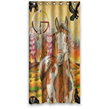 """abigai Special Design Native American Indians Dream Catcher and Horse Waterproof Bathroom Fabric Shower Curtain 72"""" x 72"""""""