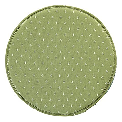Fabric Chair Seat Student Thickened Round Pad Bar Stool Mat (color8) (Round Chair Pads With Ties)