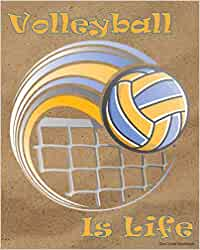 Volleyball Is Life Dot-Lined Notebook: Beach Volleyball Spike on Sand Court Dot-Lined Volleyball Subject Notebooks!