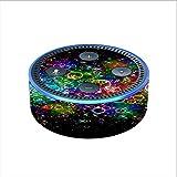 Skin Decal Vinyl Wrap for Amazon Echo Dot 2 (2nd generation) / Rainbow bubbles