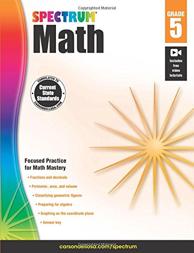 Teachers Tools 4 (Spectrum Math Workbook, Grade 5)