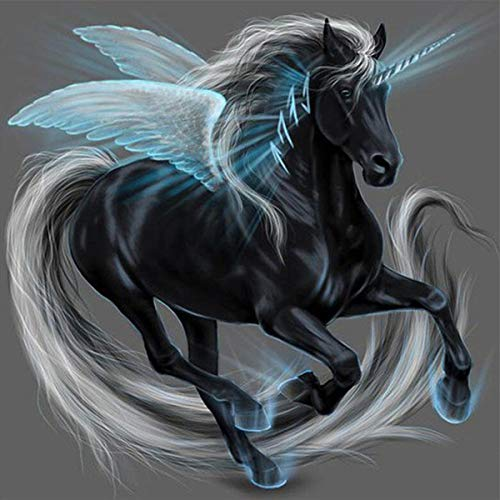 - 5D Diamond Painting Kits for Adults Full Drill Diamond Embroidery Pegasus 10x10 inch / 25x25 cm