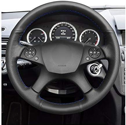 VCFDBV Couverture de Volant de Voiture Anti-d/érapant en Cuir Artificiel Noir Cousu /à la Main pour Mercedes-Benz W204 Classe 2007-2010 C280 C230