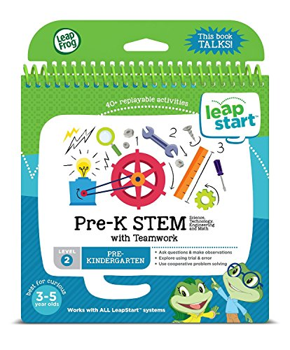 Stem Science Technology Engineering Math: LeapFrog LeapStart Pre-Kindergarten Activity Book: Pre-K