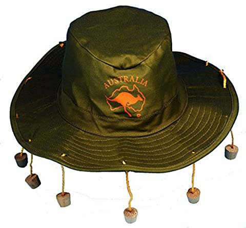 Adult Australian Cork Hat - Crocodile Dundee Style - Aussie Fancy Dress Hat (Australian Outback Kostüm)