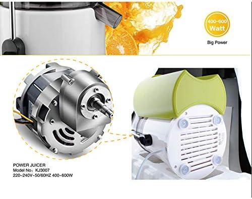 Extractor de jugo multifunción, Extractor de jugo eléctrico para el hogar Extractor de jugo, Cabezal de corte de acero inoxidable 304, 1.5l de gran capacidad