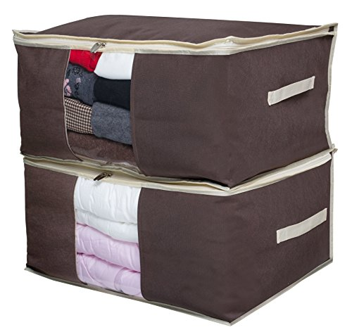 Comforter Set Cube (Jumbo Blanket Storage Bag Organizer Comforter Clothes Storage Containers Tidy Up Your Closets, Bedrooms, Shelves, Transparent Window)
