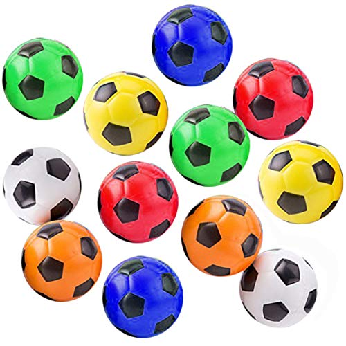 Akusety Mini Sports Stress Balls Soccer Balls Fun, 12-Pack Foam Ball 2.5