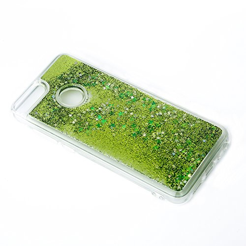 ETbotu Fashion - Carcasa Trasera para Huawei Phone TPU (Ultrafina, diseño Flotante de Arena y caudal Interior), Color Negro,...