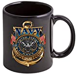 Coffee Cup with US Navy The Sea Is Ours Logo – Stoneware Mug, Patriotic Gifts