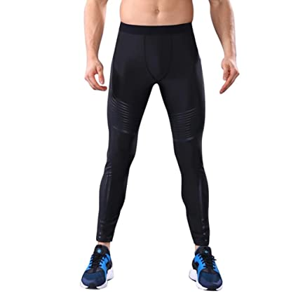 7eb47b07f420fe 2017 Hot Leggings, Men High Elastic Running Tight Trousers Workout Sport  Long Pants (S
