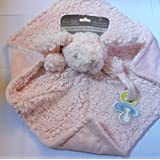 Blankets and Beyond Baby Girls Pink Fuzzy and Soft Nunu w/ Pacifier Holder