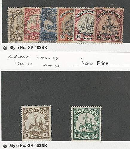 German South West Africa, Postage Stamp, 13, 15-16, 18-20 Used, 26-7 Mint
