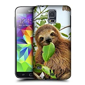 AIYAYA Samsung Case Designs Three Toed Sloth Famous Animals Protective Snap-on Hard Back Case Cover for Samsung Galaxy S5