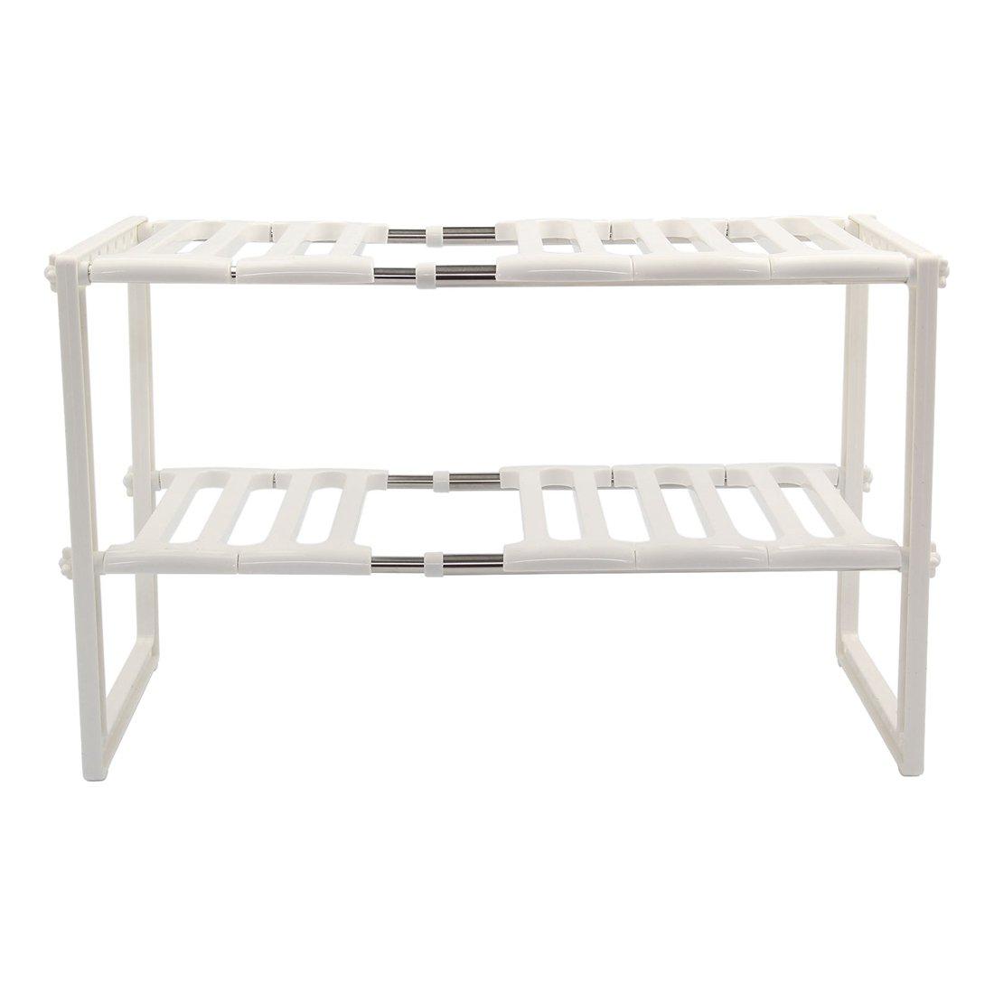 Storage Shelf - TOOGOO(R)Kitchen Rack Organiser Adjustable Removeable Under Sink Storage Tidy Shelf Unit by TOOGOO(R)