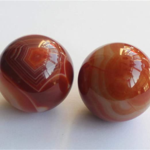 Sxuefang Baoding Pelota de Fitness, Natural South Red Agate ...