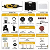 Ginour Rotary Tools Kit, 110 Accessories + 4